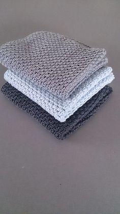 Karklude – lækre og nemme – Fru Ø Knitted Washcloth Patterns, Baby Boy Knitting Patterns, Knitted Washcloths, Crochet Dishcloths, Crochet Kitchen, Crochet Home, Diy Crochet, Easy Crochet Blanket, Crochet Blanket Patterns