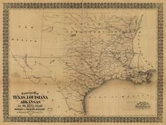 Campaign map of Texas, Louisiana and Arkansas, showing all the battle fields and also the marches of Walker's Division. [1861-65] | Library of Congress