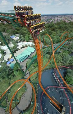 Yukon Striker Opens at Canada's Wonderland - - May 2019 Scary Roller Coasters, Crazy Roller Coaster, Fastest Roller Coaster, Beautiful Places To Travel, Cool Places To Visit, Places To Go, Vacation Places, Dream Vacations, Art Du Cirque