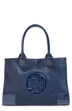 Free shipping and returns on Tory Burch 'Mini Ella' Nylon Tote at Nordstrom.com. A classic tote is crafted from durable nylon and trimmed in high-shine patent for a sleek, sophisticated look.