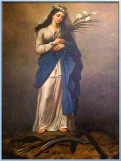 Año: †…220 / Lugar: Corfú, Grecia – Roma, Italia / 11 de Agosto / Aparición de la Virgen, el Niño Jesús y dos Ángeles a Santa Filomena, Virgen y Mártir (207 – …†220).