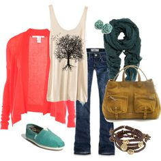TOTALLY me!! I love everything about this outfit but trees are definitely a weakness of mine...I want that tanktop