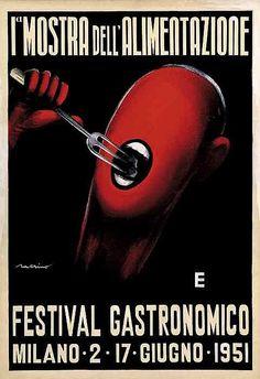 1 Mostra dell'alimentazione e Festival gastronomico - 1951 - (Nerino) -