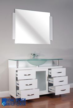 Pic On  Vanity Frosted Glass Top ALYA BW W FGT Single Modern Bathroom