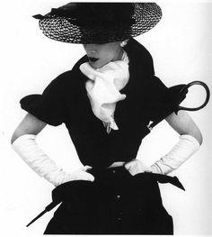 Woman with Umbrella, New York, 1950 Photographer: Irving Penn Model: Lisa Fonssagrives-Penn