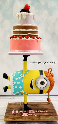 Breakdancing Minion Cake