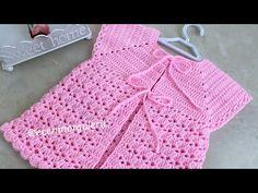 1 Günde Örülen Bebek Yeleği/Tığ işi Kolay Kız Bebek Yeleği/1-2 yaş - YouTube Crochet Bebe, Youtube, Lace, Sweaters, Women, Instagram, Fashion, Crochet Coat, Baby Dresses