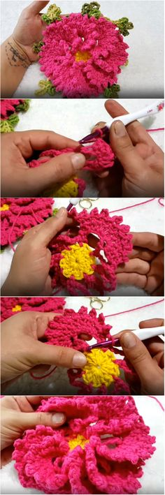 How To Crochet Beautiful Flower - Crocheted World