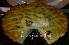Crostata al profumo di vaniglia, con ripieno di nutella bianca ricotta e pezzi di duplo!!!