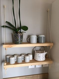 tuto etagere balancoire suspendue bois et corde joli tipi 11 diy deco pinterest salons. Black Bedroom Furniture Sets. Home Design Ideas