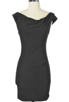 Classy black dress for 3rd invite. how great would this look with pearls?