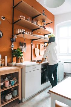 27 Country Cottage Style Kitchen Decor Ideas to Make You Fall in Love with Your Kitchen Again - The Trending House Kitchen Shelves, Diy Kitchen, Kitchen Decor, Floating Shelves In Kitchen, Kitchen Ideas For Small Spaces, Kitchen Wall Storage, Smart Kitchen, Retro Home Decor, Easy Home Decor