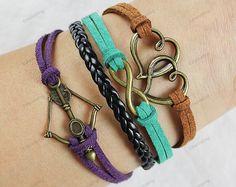 Love  bracelets  infinity karma bracelets  by lifesunshine, $6.99