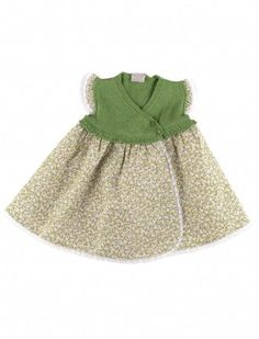 Paz Rodrigues Green Floral Baby Dress