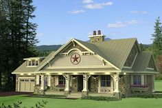 Craftsman Style House Plan - 3 Beds 2.5 Baths 1999 Sq/Ft Plan #51-550 Exterior - Front Elevation - Houseplans.com