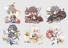 ❤ [1] Kawaii Chibi, Cute Chibi, Anime Chibi, Anime Art, Touken Ranbu, Character Concept, Character Design, Manga, Chibi Food
