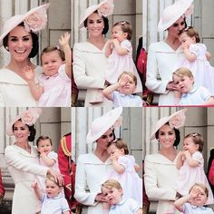 The Duchess of Cambridge, Princess Charlotte and Prince George attend the Trooping the Colour, marking the Queen's 90th birthday | June 11, 2016
