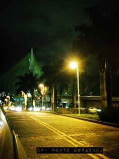 Sao Paulo- ponte estaiada vista do CENU