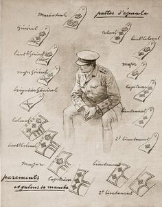 Ranks of a British soldier illustration