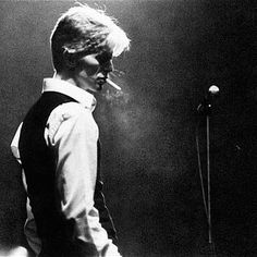 Bowie performing during his Thin White Duke period, circa 1978.