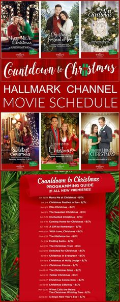 The Hallmark Channel Countdown to Christmas Schedule 2017 was just released! I can't think of anything I love more than a cheesy feel-good Christmas Movie