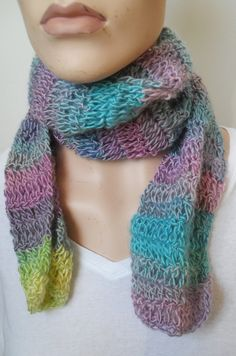 Pastel Scarf for women Crochet scarf for by SurpriseDesignsDE #etsy #epiconetsy #handmade