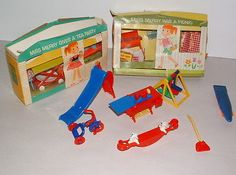 1950s AND 60s RENWAL AND MY MERRY DOLL HOUSE FURNITURE COLLECTION LOT #5