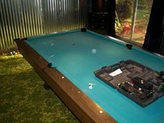 Before refelting a pool table