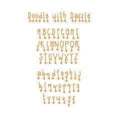 Sizzix Sizzlits Doodle with Dazzle Alphabet Dies