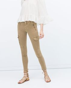 Image 1 of CARGO TROUSERS WITH ZIPS from Zara
