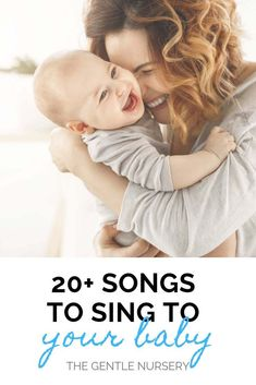 Dec 2019 - Sing to your baby with this list of the top baby songs. Singing to your baby promotes bonding and helps your baby's brain develop. Nursery Songs For Babies, Baby Songs, Baby Music, Kids Songs, Fun Songs To Sing, Newborn Development, Lullaby Songs, Sleeping Songs, Beste Songs