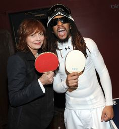 Celebs play ping-pong at Bing Bar
