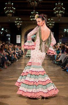"Lola Azahares ""Diosas Flamencas"" - We Love Flamenco 2016   Moda Flamenca - Flamenco.moda Fishtail, Masquerade, Mermaid, Model, Beauty, Dresses, Irene, Spain, Fashion"