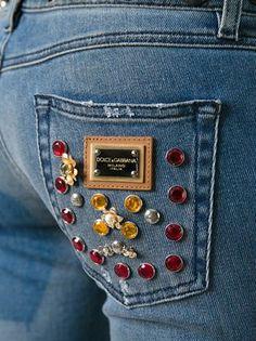 Dolce & Gabbana 'Sacred Heart' embellished jeans