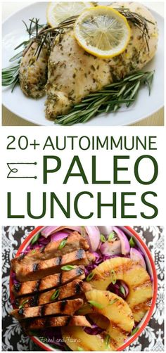 Over 20 Delicious AIP Lunches On the lookout for paleo meals to fit the autoimmune protocol restrictions? Here are over 20 delicious AIP lunches to get you started … Dieta Paleo, Comidas Paleo, Autoimmun Paleo, Paleo Menu, Paleo Dinner, Paleo Food, Diet Menu, Veggie Food, Whole Foods