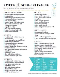 * She Makes a Home *: Spring Cleaning Checklists: 2 Free Printables