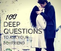 Deep Questions to Ask Your Boyfriend Find out how compatible you and your boyfriend are by having a question/answer session with deep questions that will help you both learn more about each other. Deep Questions To Ask, Questions To Ask Your Boyfriend, 100 Questions, Intimate Questions, Dating Questions, Random Questions, Things To Do For Your Boyfriend, Relationship Questions, Relationship Advice