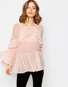 Asos Tiered Ruffle Blouse