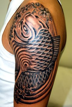 koi-fish-carpa ~ http://heledis.com/what-asians-believe-as-meaning-of-koi-fish-tattoo-designs/