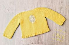 Jersey en algodón con inicial de guipur. L'Anita