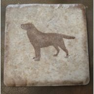 Labrador Retriever pet silhouette coaster