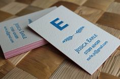 Duplex Letterpress Business Card or Calling Card by CeruleanPress Letterpress Business Cards, Calling Cards, My Favorite Things, Creative, Prints, Handmade, Etsy, Carte De Visite, Lush