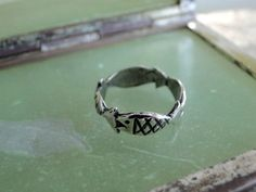 Fish Ring Sterling Band Size 5.75 1970 Rings by MyVtgJewelryShop