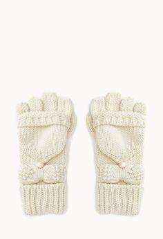 Sweet Fingerless Gloves w/ Mittens | FOREVER21 - 2000093125