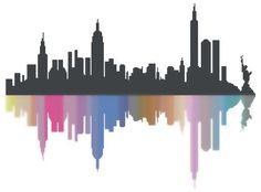 """Grille de Kalys - Point de Croix """"New York City - Envoi Mail : Broderie par lesgrillesdekalys"""