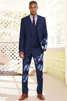 Paul Costelloe Carney Ocean Blue Slim Fit Suit http://www