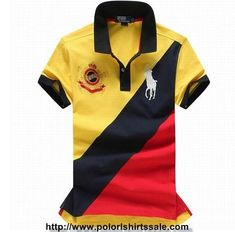 14afd197163 Good Mens Polo Ralph Lauren Slim Fit Big Pony Striped Shirts Yellow Dark  Blue Red sale at online reakdown price.