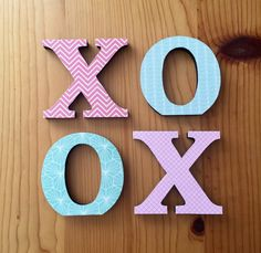 XOXO Letters Coral Decor Mint Nursery by EthelsGranddaughter Aqua Nursery, Mint Decor, Tween Girl Gifts, Wooden Letters, Crosses, Angels, Coral, Gift Ideas, Handmade Gifts