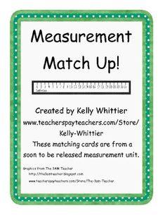 Customary and Metric Measurement Match Up! - Kelly Whittier - TeachersPayTeachers.com  FREE DOWNLOAD