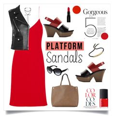 """""""Stand Up! Platform Sandals + TFP"""" by southindianmakeup1990 ❤ liked on Polyvore featuring Calvin Klein Collection, Miss Selfridge, Maje, Monica Vinader, Marni, Street Level, By Terry, NARS Cosmetics, Smashbox and Ray-Ban"""